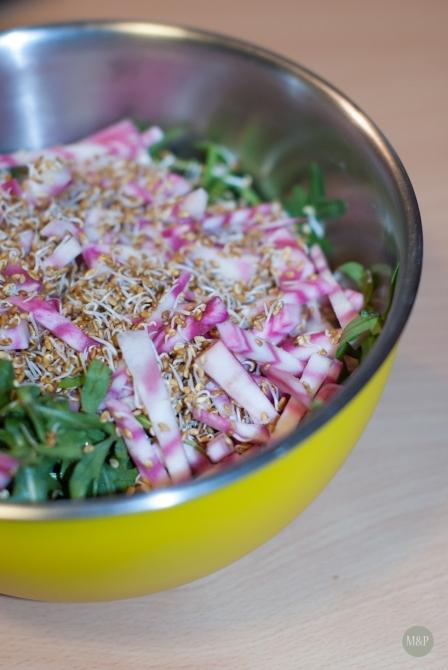 Salade roquette betterave alfafa